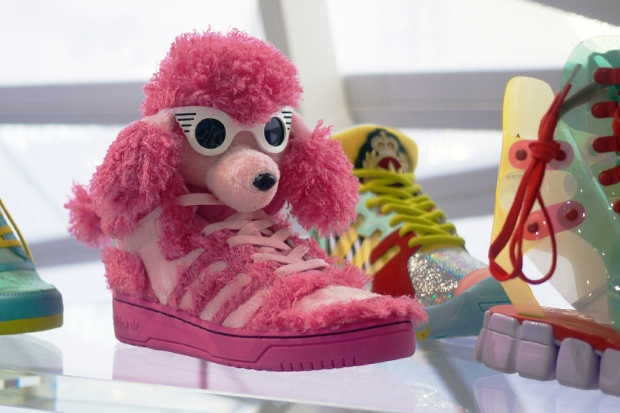 """new product e43cc ca6e2 Showing no signs of shying away from his affinity for animal-laden footwear  designs, the latest from the adidas Originals by Jeremy Scott sees a brand  new """" ..."""