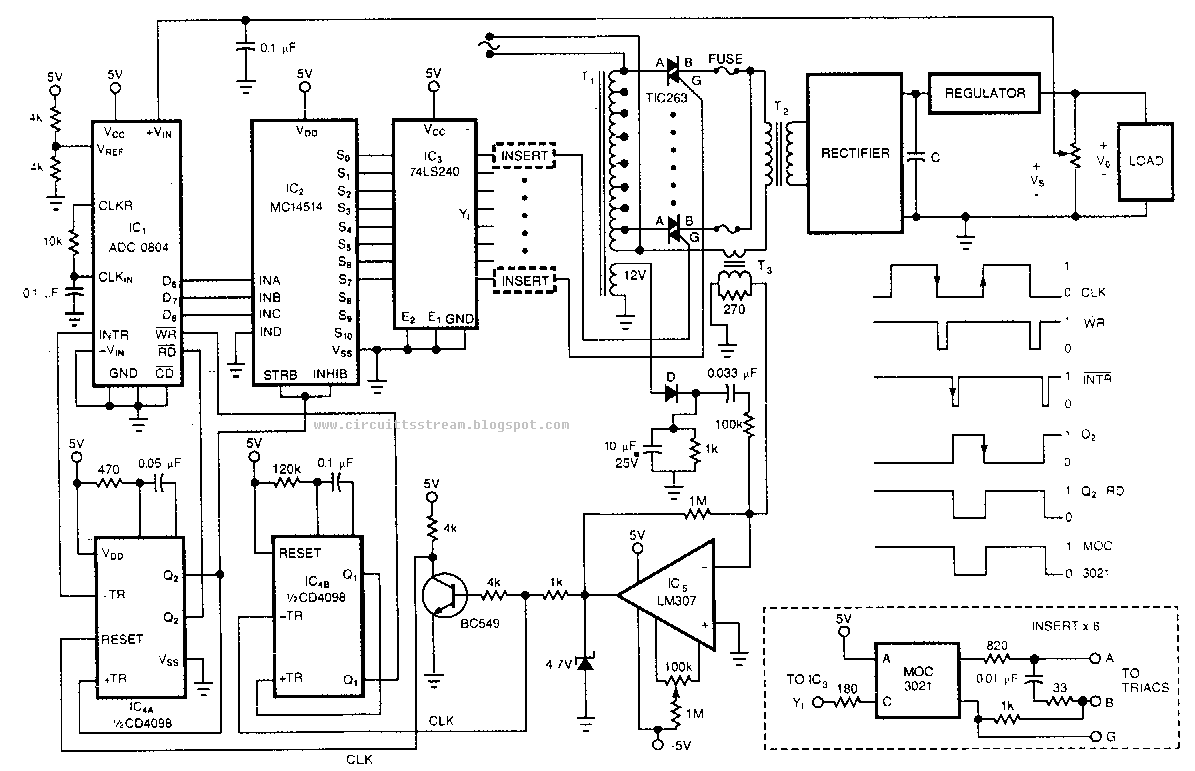 x ray circuit schematic