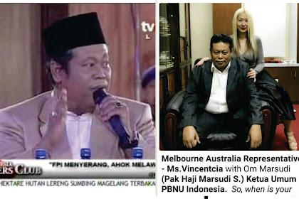 Allah Bongkar Ulama Bohongan! Heboh Foto Haji Marsudi Bersama Wanita Berambut Pirang di Australia