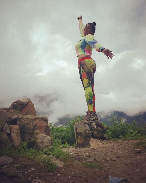 Actress Namita enjoying a holiday in Himachal Pradesh