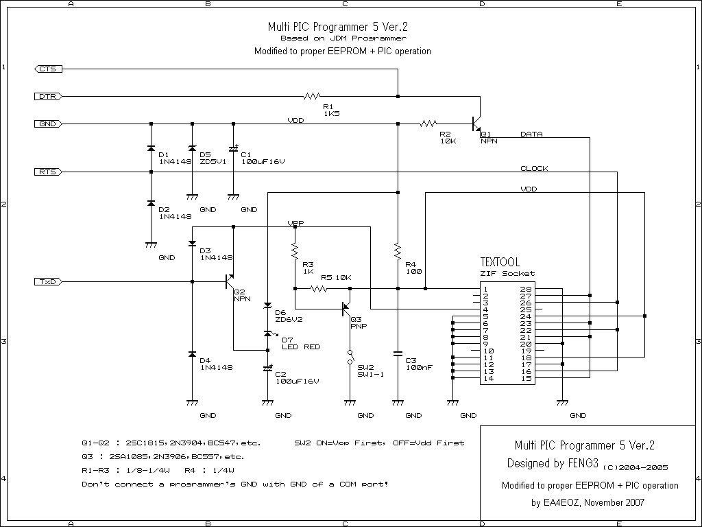 reused an old zif socket i had from a previous atmel programmer to do both tasks program pics and 24cxx eeproms this is the final modified schematics  [ 1024 x 768 Pixel ]