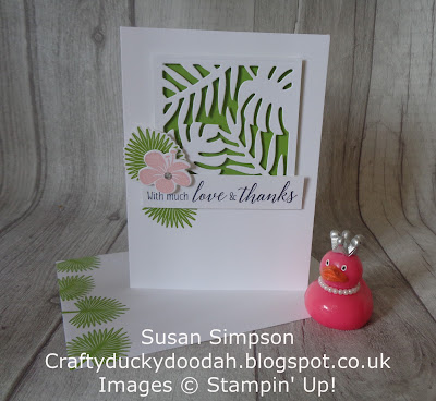 Craftyduckydoodah!, Tropical Chic, Stampin' Up! UK Independent  Demonstrator Susan Simpson, July 2018 Coffee & Cards Project, Supplies available 24/7 from my online store, #stampinupuk, #lovemyjob,