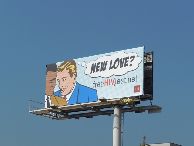 New Love HIV test billboard