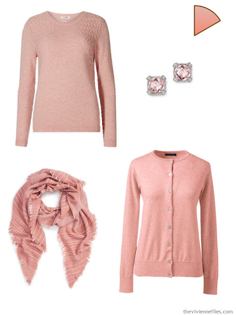 dusty rose capsule wardrobe accents
