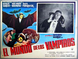 Cartel de cine - El mundo de los vampiros