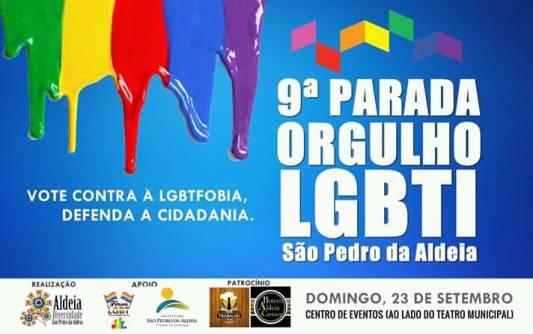 Parada do Orgulho LGBT acontece neste domingo (23/09) em São Pedro da Aldeia