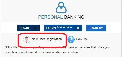 click on the new user registration