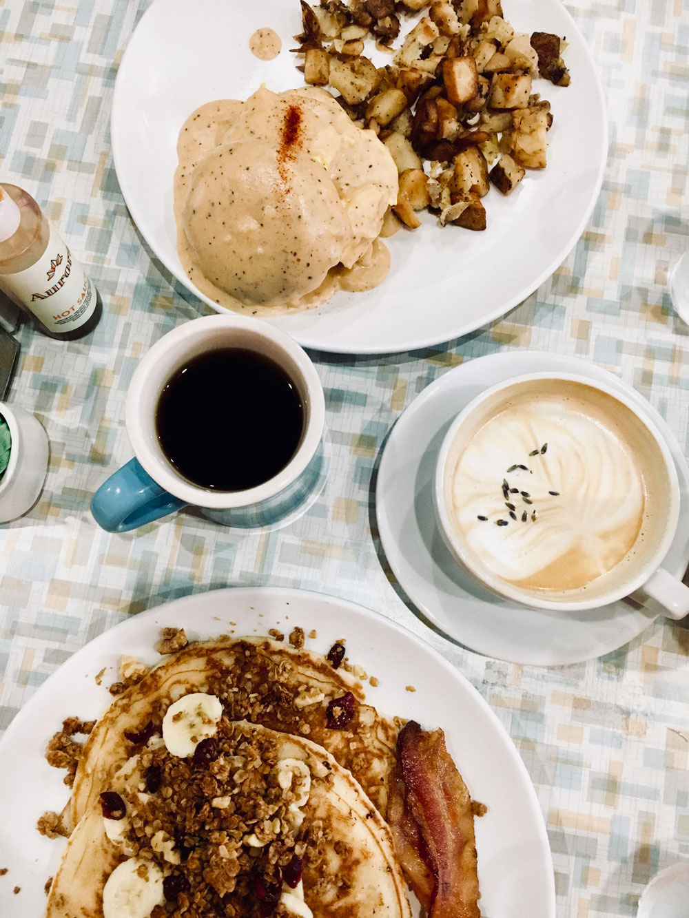 Blogger Amanda Martin's favorite breakfast spot is aurora in the plaza district of okc