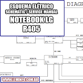 Esquema Elétrico Notebook Laptop Notebook LG R405 Manual de Serviço  Service Manual schematic Diagram Notebook Laptop LG R405    Esquematico Notebook Laptop LG R405