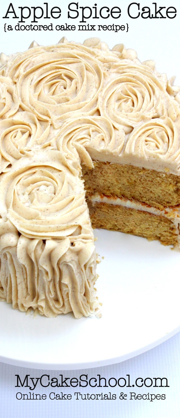 Apple Spice Cake A Doctored Cake Mix Recipe My Kitchen