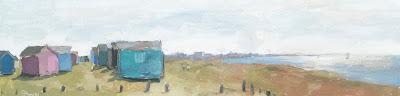 #99 'Beach Huts, Hayling Island'  4×15.5″
