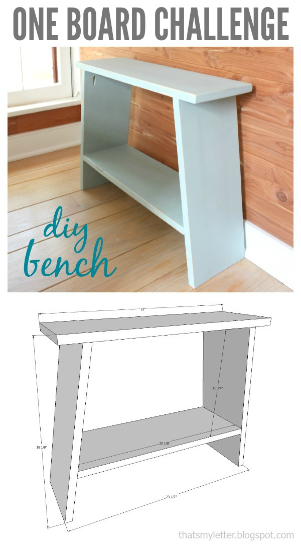 one board challenge simple bench free plans