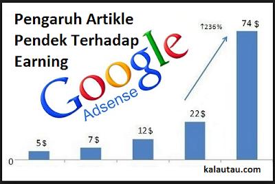 kalautau.com - Pengaruh Artikle Pendek Menambah Earning Adsense