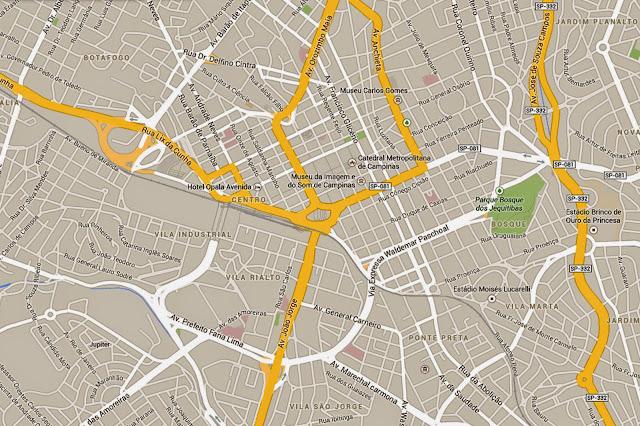 Mapa do centro de Campinas