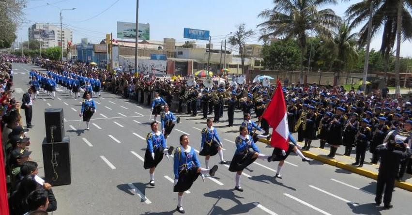Desfile escolar por Fiestas Patrias se realizará el 20 de Julio en Chiclayo, Lambayeque y Ferreñafe, informó la GREL