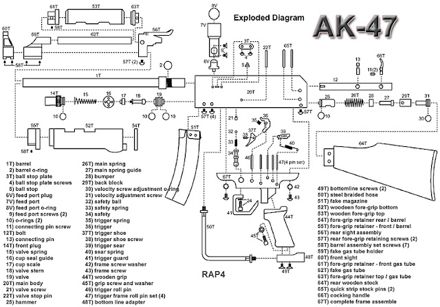 Ammo and Gun Collector: AK-47 Exploded Parts Diagram