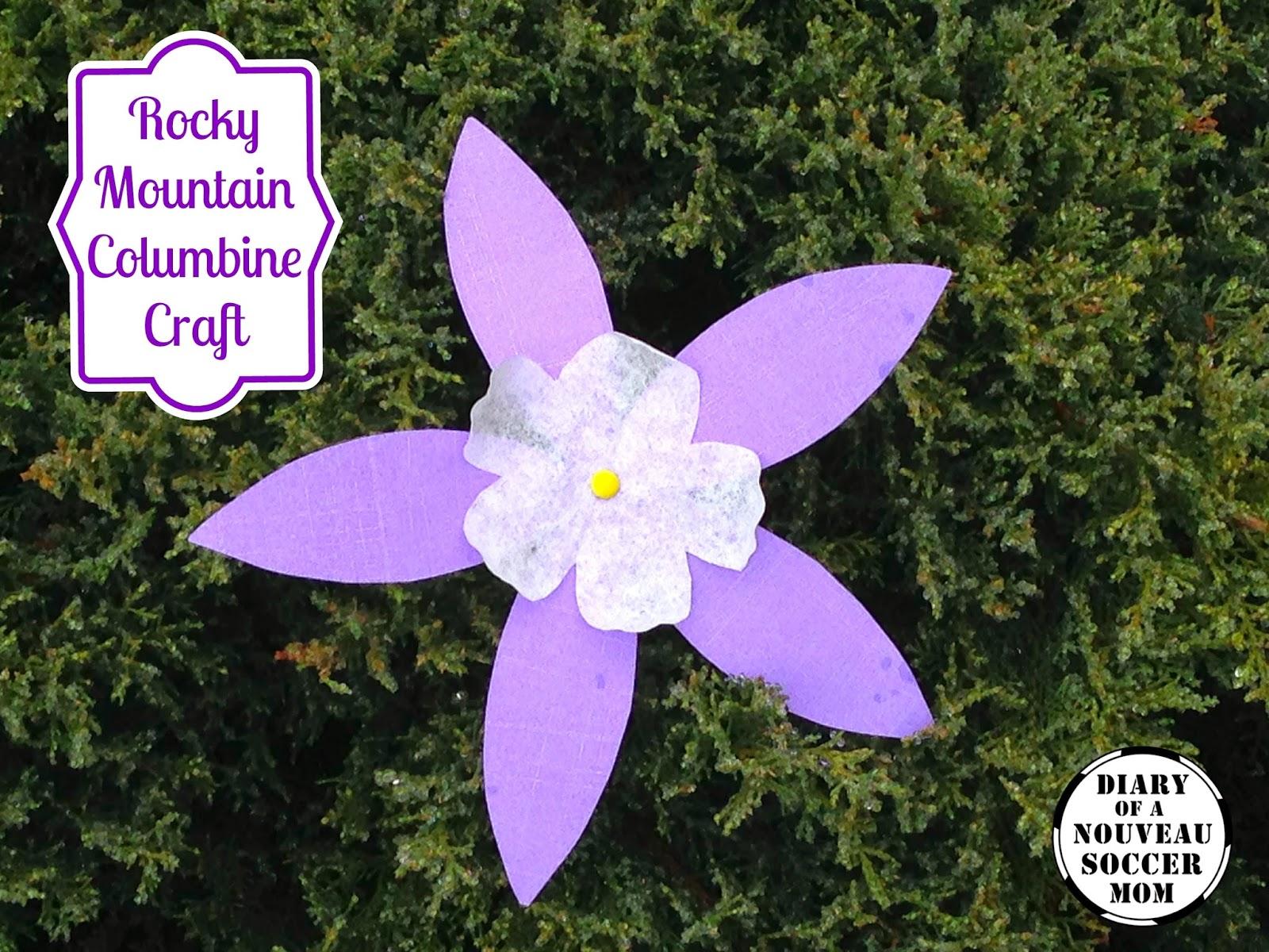 The diary of a nouveau soccer mom flower craft for kids rocky flower craft for kids rocky mountain columbine izmirmasajfo