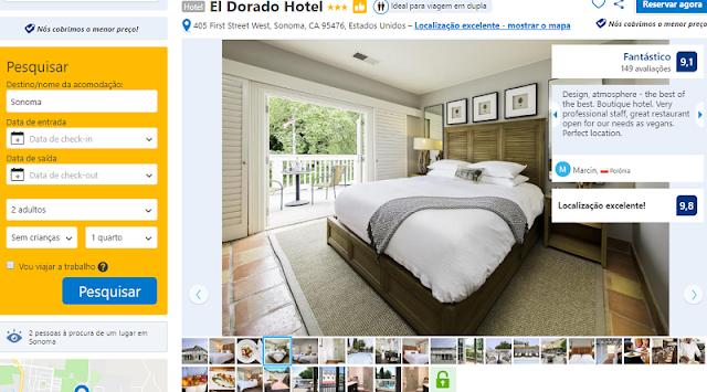 Estadia no El Dorado Hotel em Sonoma