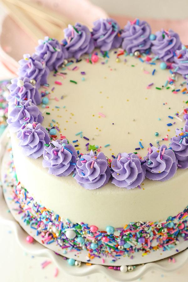 MOIST VANILLA LAYER CAKE #cakerecipes