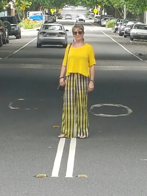 My bright outfit almost stopped the traffic