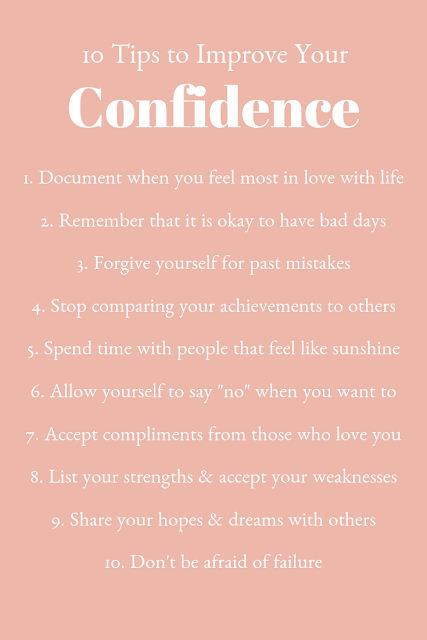 Tips for Confidence