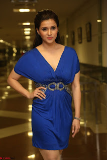 Mannara Chopra in Short Blue Dress at Rogue Movie Teaser Launch 1st March 2017 053.JPG