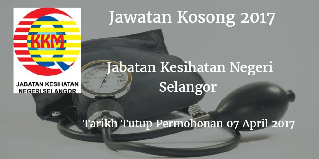 Jawatan Kosong JKN Selangor 07 April 2017