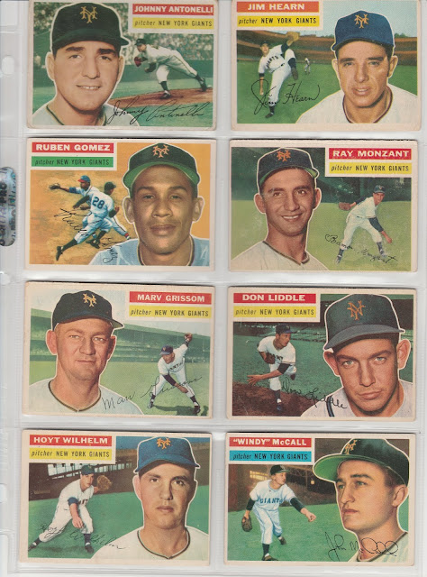 They Might Be The New York Giants 1956 Topps Team Set