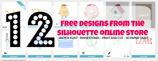 Silhouette, Silhouette online store, free designs, Silhouette Cameo, Silhouette Studio