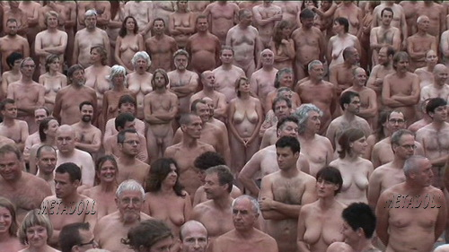 Hundreds of naked people posed during a massive photo session with Spencer Tunick