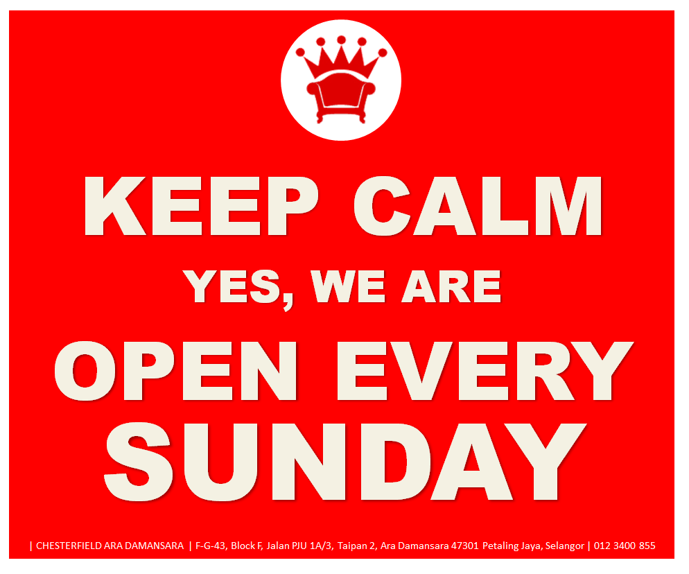 Royale Chesterfield We Are Open Every Sunday