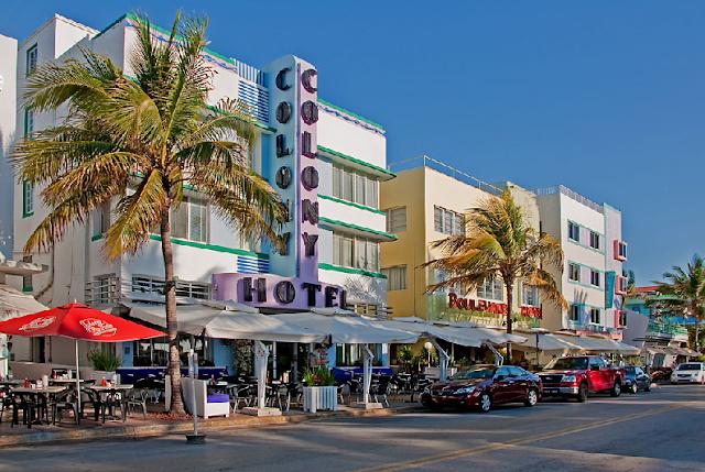 Passeio pela Ocean Drive em Miami Beach