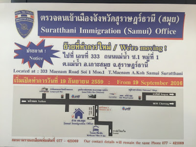 New immigration office on Koh Samui has opened on Soi 1 in Maenam