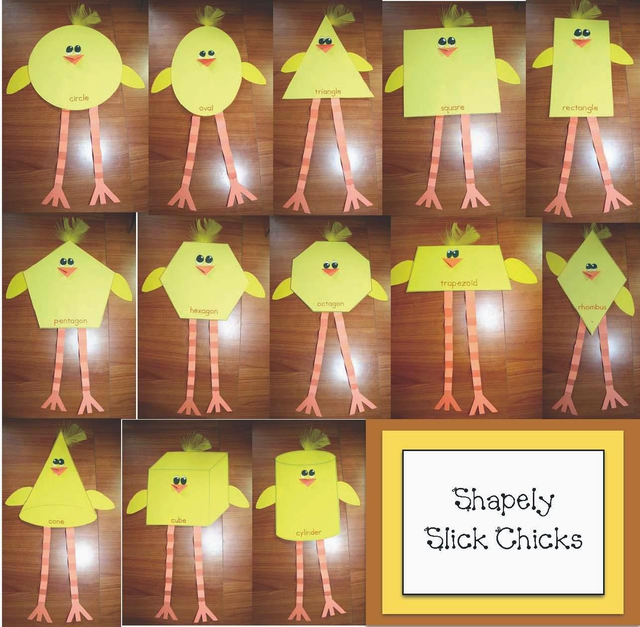 Classroom Freebies Slick Chick Shape Packet