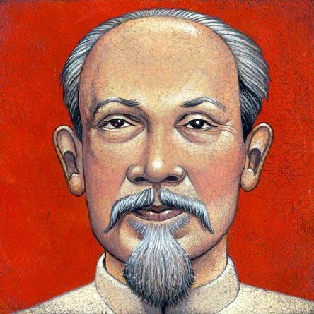 Ho Chi Mihn - Grandes personalidades pintada por Marc Burckhardt
