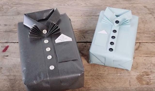 Cara Membuat Kado Bentuk Baju Berkerah