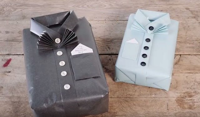 Cara Membungkus Kado bentuk Baju
