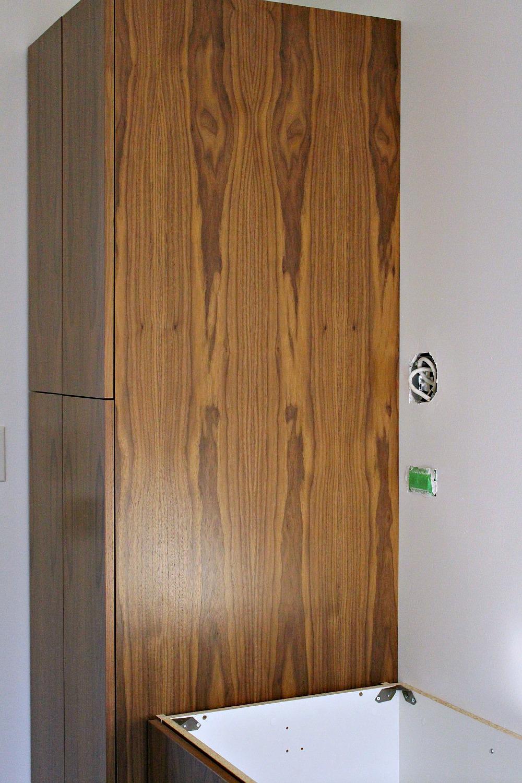 Walnut bathroom cabinetry