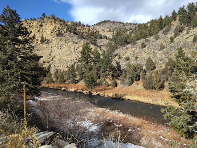 View of Clear Creek in Evergreen, Colorado