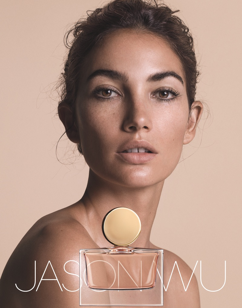 Lily Aldridge poses for Jason Wu's debut fragrance campaign