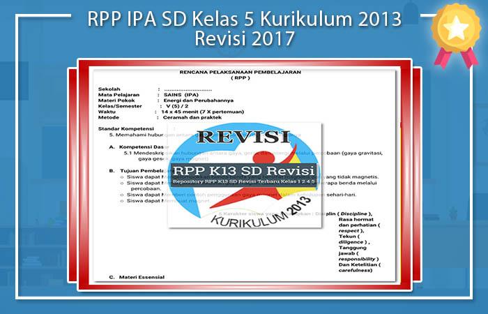 RPP IPA SD Kelas 5 K13