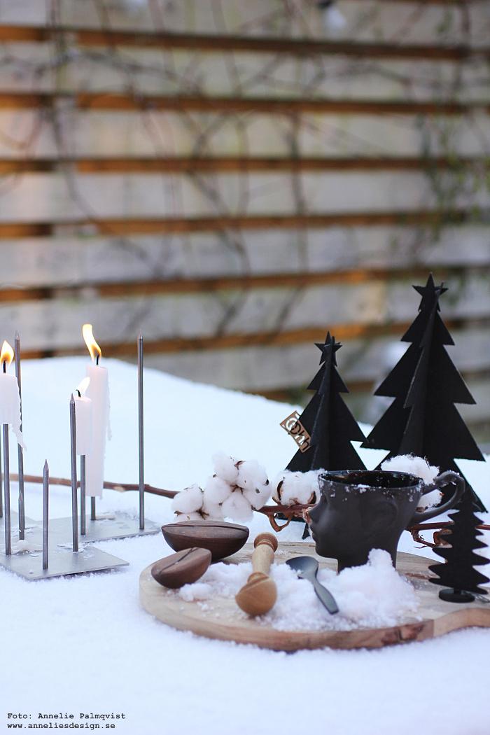 annelies design, webbutik, webshop, nätbutik, kaffeböna, kaffebönor, snö, skärbräda, ansikte mugg, vinter, vinterbild, varberg, granar, gran, julpynt, julen 2017, Oohh, dekoration, advent, candle cross, ljusstake, ljusstakar,