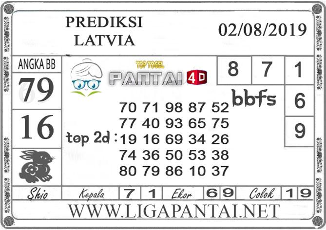 "PREDIKSI TOGEL ""LATVIA"" PANTAI4D 02 AGUSTUS 2019"