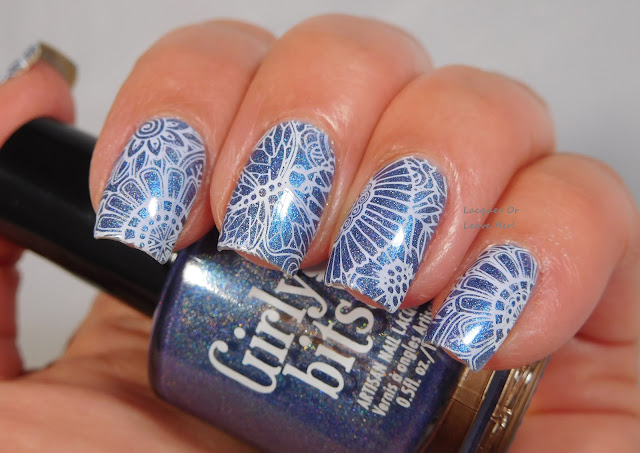 UberChic Beauty 19-03 over Girly Bits Cosmetics Let Me Azure You