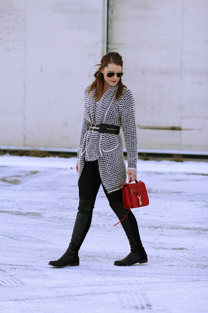 Cute sweater and over the knee boot outfits
