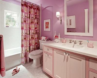 ห้องน้ำสีชมพู