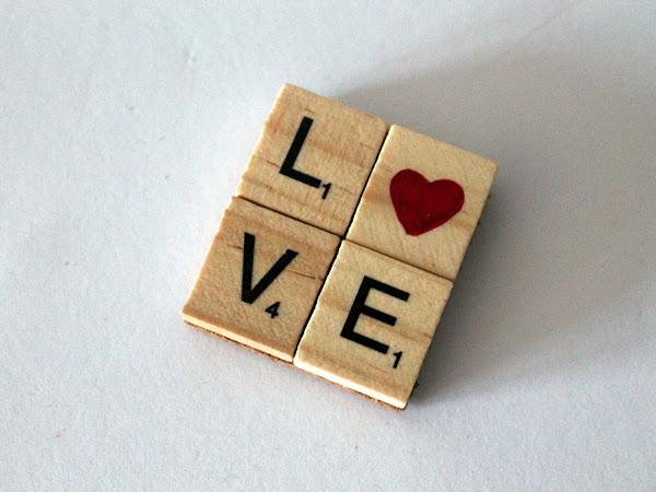 DIY LOVE Magnet Herz aus Scrabble Buchstaben