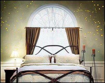 celestial - moon - stars - astrology - galaxy theme decorating ideas - moon stars bedroom ideas - outerspace theme bedrooms - constellation bedding - night sky wall murals - moon stars wallpaper murals - moon stars bedding - star decorations