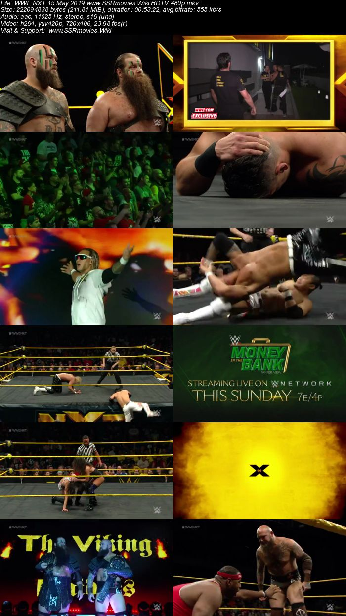 WWE NXT 15 May 2019 HDTV 480p Full Show Download