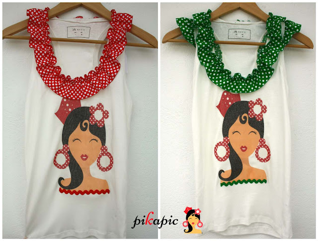 Camiseta flamenca Pikapic